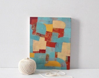 Abstract - Orange, turquoise, amber, red