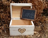 Large Personalized Engraved Heart Initial Wedding Card Box and Treasure Chest Rustic Cinderella Renaissance Fairytale