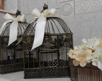Birdcage Wedding Decorations / Birdcage Wedding Table Decor / 10 Birdcages / Wedding Decorations / Wedding Cardholder