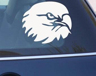 Hawk Decal -  Bald Eagle Vinyl Decal for Laptop, Car
