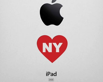 New York Decal - I Heart NY Sticker, for iphone, ipad, Laptop, Car
