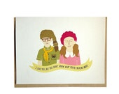 Moonrise Kingdom, Sam and Suzy card, Anniversary, Love card, Just Because card