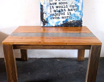 Beautiful Reclaimed Wood Dining Table.Made in Downtown L o s  A n g e l e s.