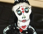 Dia de Muertos Bride Art Doll Day of the Dead