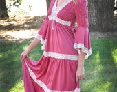 LDS Rose Colored Medieval Style Dress