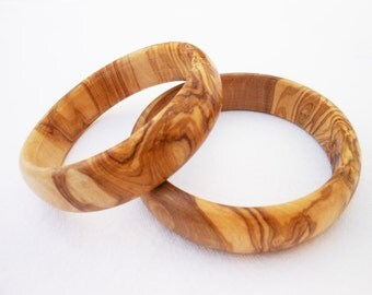 Wooden bracelet set / Olive Wood Bangles Set / Gift for Her / Girlfriend Gift / Birthday Gift