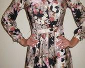 Vintage Fabulous Mad Men Shirtwaist Day Dress Size XS/Small