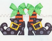 Witches Shoes Embroidery Design Machine Applique