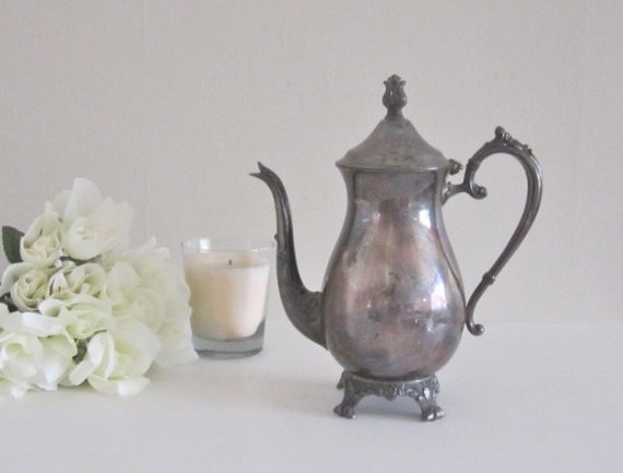 Vintage FB Rogers Silver Coffee Pot - French Country Farmhouse - Vintage Wedding