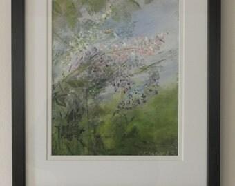 Lilacs. Original framed art by Christina Glaser. lilacs spring flower garden floral
