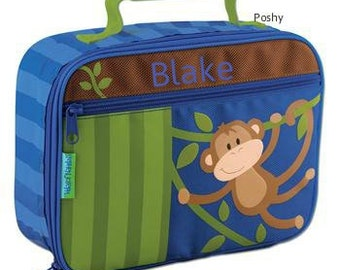 Personalized Lunch Box Bag Stephen Joseph Monkey Vine