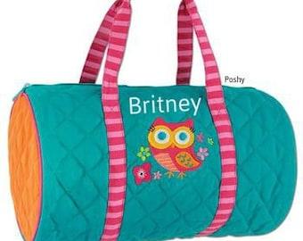 Personalized Duffle Bag Stephen Joseph in Hoot Owl