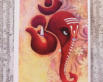 Ganesh, Lotus or Lakshmi Card