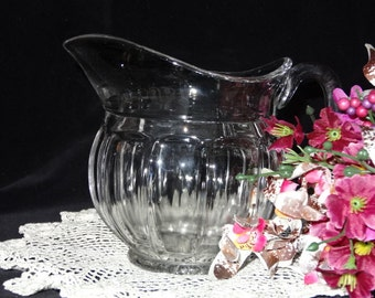 Beautiful Small Vintage Glass Pitcher or Large Creamer