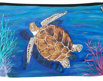 Loggerhead Sea Turtle Cosmetic Bag by Salvador Kitti - Support Wildlife Conservation, Read How