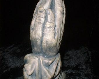 Classic Praying Hands Small Sculpture made of Mt St Helen Volcanic Ash
