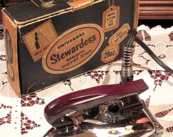 Vintage 1950's Stewardess Travel Iron