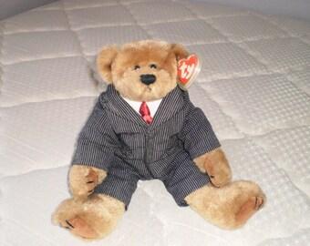 Ty Beanie Babies Attic Treasures Business Suit Bear