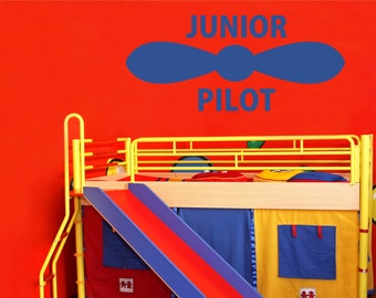 Junior Pilot wall decal (large)