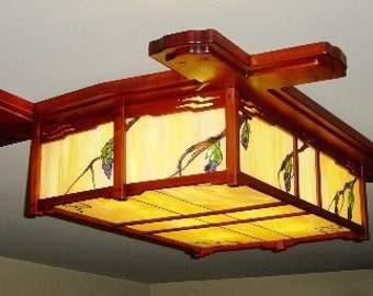 Ceiling Flush mount lighting fixture for any room in the house. can be made to your choice of sizes to fit your space.