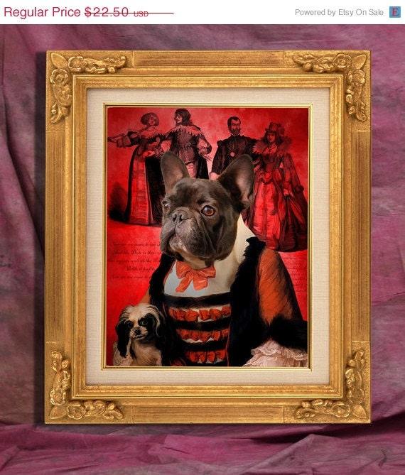 French Bulldog Art Print 11 x 14 inch original illustration artwork giclee archival premium poster print By Nobility Dogs