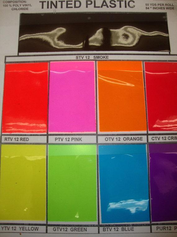 10 Gauge Tinted Transparent Plastic Vinyl Tinted 54 Inch Wide