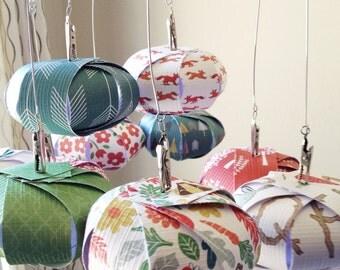 Fox and Flower Sphere Mobile // Nursery Decor, Nursery Mobile, Modern Mobile
