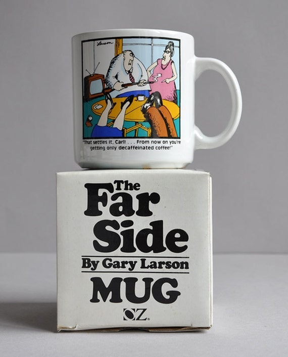 The Far Side Mug - Decaf From Now On - Gary Larson - New In Box