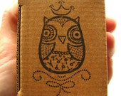 Stamp - Seal for children - Back to school - DIY projects for kids - Personalizing personal objects -Queen owl rubber stamp