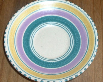 vintage roniton devon pottery saucer small plate