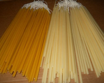 "12 Beeswax tapers candles 1/4"" x 12"". Free Shipping to US"