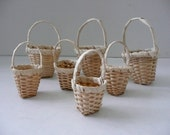Lot of 7 Miniature Wicker Baskets