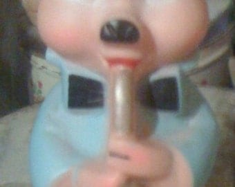 Vintage Three Little Pigs sax Playing Piglet