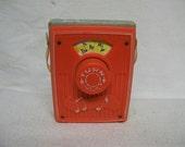 Vintage Fisher Price Musical Pocket Radio Do Re Mi Circa 1969