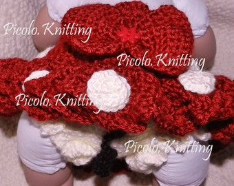 Exclusive Line - Heand Crocheted - Disney Inspired Minnie Mouse Diaper Cover with Tu-Tu Skirt