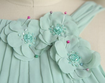 flower girls/Jr.bridesmaid dress bust less than 28