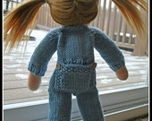 "DIGITAL KNITTING PATTERN The Union Suit for Dolls Pattern is sized for 16-17"" Waldorf Dolls"