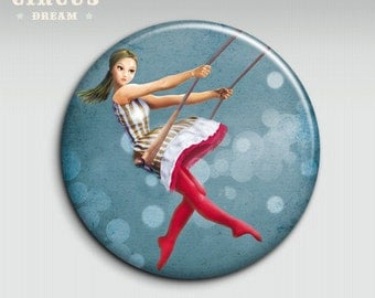 CIRCUS DREAM n.2 - 58mm - Pocket mirror