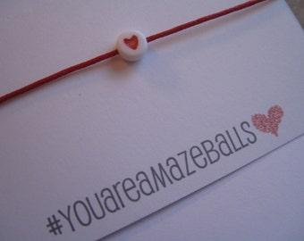 You are amazeballs...Wish String Bracelet...