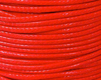 10 Yards - 1mm RED KOREA Waxed Cotton Cord - 30 Feet Round Cotton Wax Cord - Soft Cotton Beading Stringing Cord - Instant Ship - USA Seller