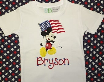 Mickey Mouse 4th of July Shirt - Appliqued