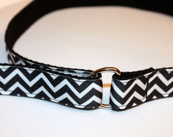 Girls Chevron Velcro Belt D Ring Belt Black and White Chevron Girls Belt Black and White Velcro Belt Toddler Girls Velcro Belt Adjustable