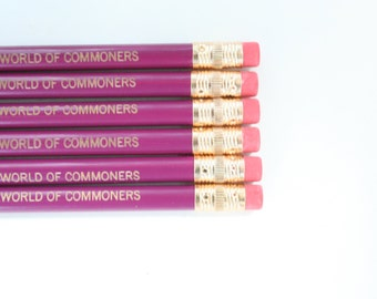 Queen in a world of commoners. 6 mulberry engraved pencils for your royal highness.