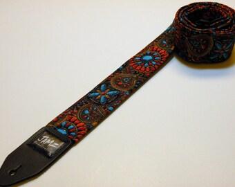Handmade doubler padded MARDI GRAS Guitar Strap -  Laissez les bons temps rouler