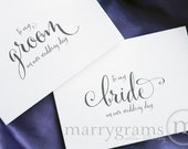 Wedding Card to Your Bride or Groom on Your (Our) Wedding Day - Love Note to Future Husband or Wife Card -To My Groom, Bride Note Card- CS07