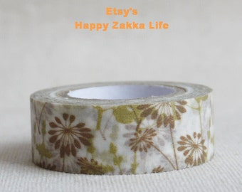 Brown Shadow - Japanese Washi Masking Tape - 8.7 yards