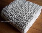 "Extra Large Chunky Afghan Blanket Easy Crochet PATTERN 50"" x 72""/(127 x 183) cm - PDF 5072"