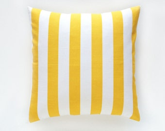 Clearance 50% OFF Yellow Stripes Decorative Pillow Cover. Pick a Size. Throw Pillow Cover. Corn Yellow Stripes Cushion. Yellow Pillow Cover.