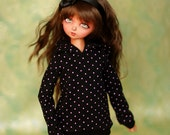 MSD Black And Pink Spot Hoodie For Ball Jointed Dolls