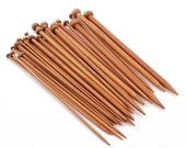 36PCS Carbonized Bamboo Knitting Needles Smooth Crochet Single Pointed 18 Sizes